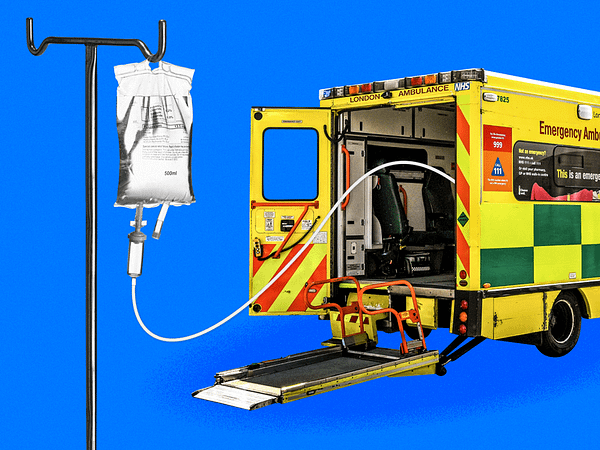 The UK's hospital system is on the brink of collapse, forcing overworked staff to postpone cancer treatments, stretch oxygen supplies, and put themselves at risk of catching COVID-19