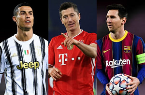 , Top 10 leaders in the European Golden Shoe race