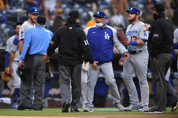 Game No. 2 of Dodgers-Padres rivalry had everything a baseball fan could want