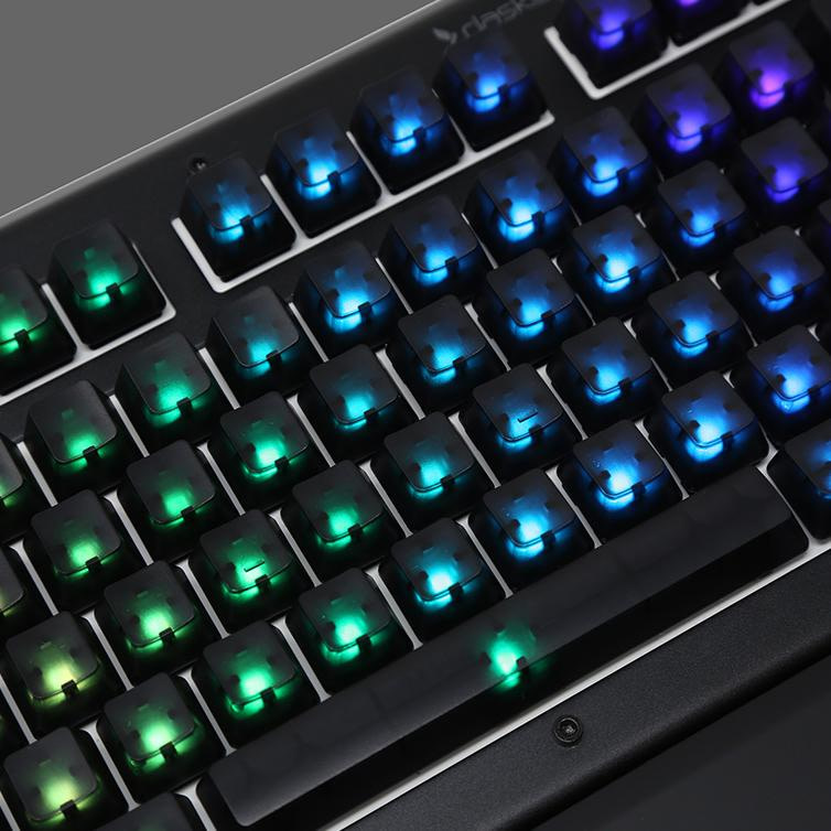 , Das Keyboard Blank RGB Keycap Set for Gamma Zulu Switches (Translucent)